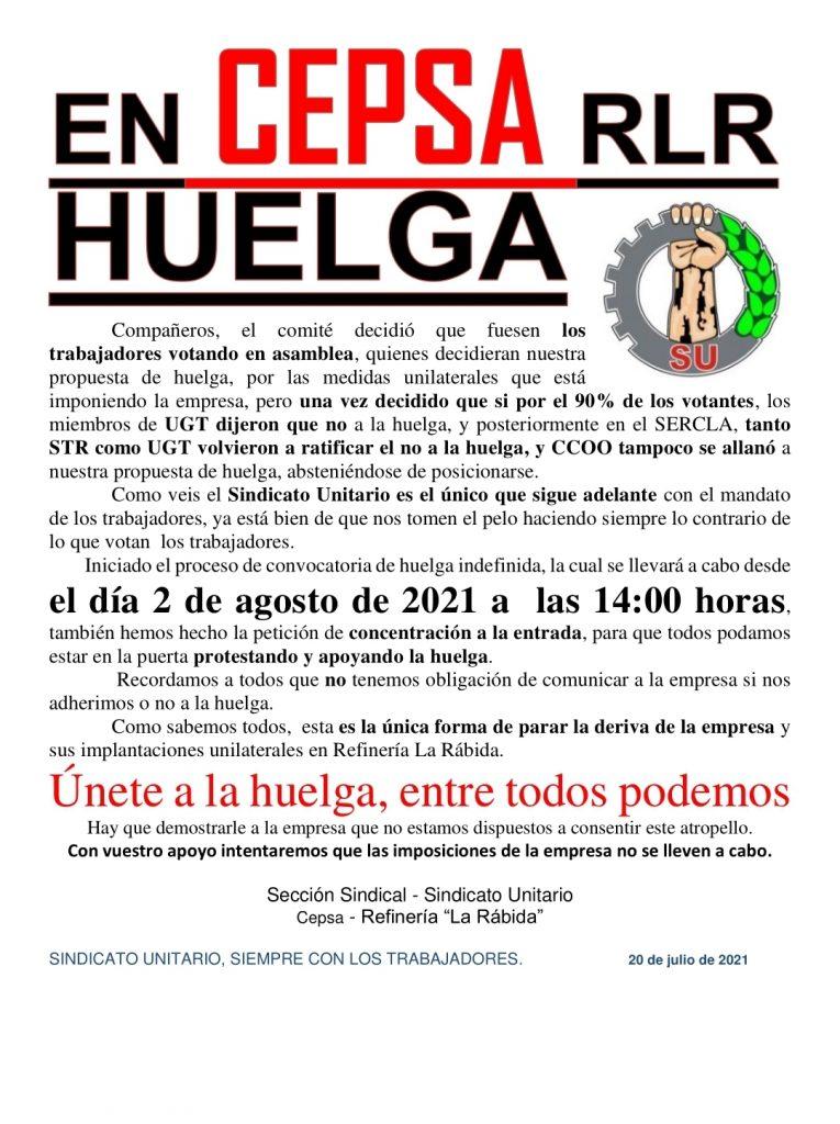 Llamado a la huelga del SUA en La Rábida